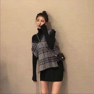 Black sweater dress set